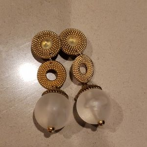 Earrings vintage Clipon